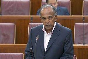 MINISTER FOR HOME AFFAIRS AND LAW K. SHANMUGAM.