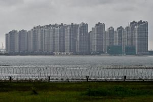 The Forest City in Malaysia, Johor, Iskandar, as viewed from Tuas West Drive on Dec 11, 2018.
