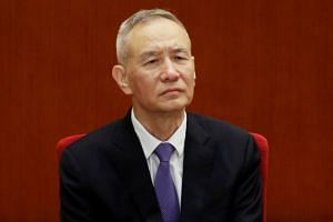 Chinese Vice-Premier Liu He at an event marking the 40th anniversary of China's reform and opening up at the Great Hall of the People in Beijing, China, on Dec 18, 2018.