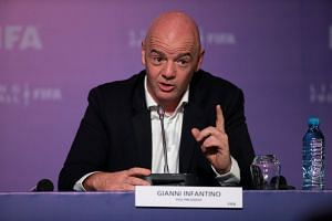 Fifa President Gianni Infantino speaks during a news conference after the latest Executive Football Summit, in Marrakesh, Morocco on Jan 17, 2019.