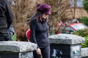 Chief financial officer of Huawei Technologies, Meng Wanzhou, leaves her home while out on bail in Vancouver, on Jan 10.