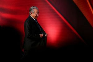 Malaysian Prime Minister Mahathir Mohamad spoke about Malaysia's politics and the general election last May which led to a change in government for the first time in its six-decade history.