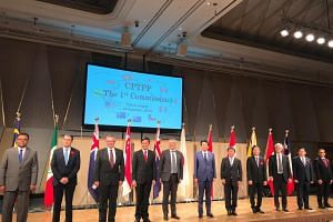 Ministers and senior officials from 11 countries involved in the Comprehensive and Progressive Agreement for Trans-Pacific Partnership (CPTPP) in Tokyo for their first commission meeting on Jan 19.