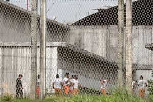 File photo of prison inmates in Fortaleza, Brazil on Jan 9, 2019. More than 400 elite federal troops have been sent to Fortaleza and the rest of Ceara state to reinforce overwhelmed local cops.