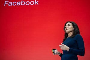 Sheryl Sandberg, chief operating officer of Facebook, at the Digital-Life-Design confernce in Munich, southern Germany, on Jan 20, 2019.