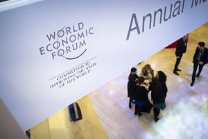 Participants gathering at the 49th annual meeting of the World Economic Forum, in Davos, Switzerland, on Jan 21, 2019.