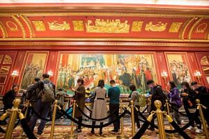 Visitors at the Parisian Macao casino resort in Macau on Jan 17, 2019.