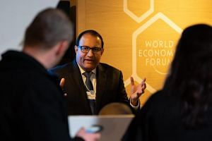 Mr S. Iswaran, Minister for Communications and Information, speaking at the annual meeting of the World Economic Forum in Davos on Jan 22, 2019.