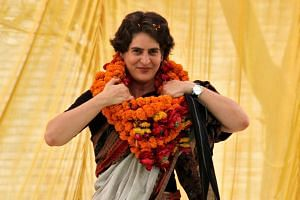 Priyanka Gandhi is from the Nehru-Gandhi dynasty that has given India three prime ministers, including Jawaharlal Nehru, India's first prime minister.