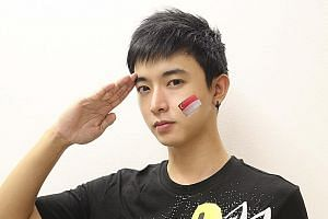Instagram profile pictures of various celebrities and that of Mr Aloysius Pang's account were changed to black and white even before the Ministry of Defence had issued a statement. Mr Pang (right), who started acting at age nine, was 28.