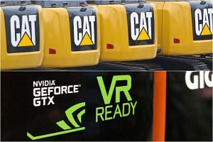 The products by Caterpillar Inc and Nvidia Corp have little in common, but their earnings on Monday (Jan 28) pointed to the same direction: demand in China is slowing down for a widening type of goods.