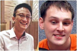 Mikhy Farrera-Brochez, 33, (right) had met local general practitioner Ler Teck Siang, 36, online.