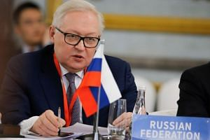 Russian Deputy Foreign Minister Sergei Ryabkov at the conference in Beijing on nuclear disarmament and non-proliferation on Jan 30, 2019.