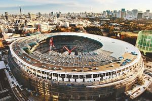 Japan's new national stadium, which will serve as the main venue of the 2020 Tokyo Olympics. The potential for extreme conditions has become a major headache for the event after a string of weather-related disasters.