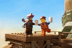 The Lego Movie 2 sees Emmet and other former inhabitants of Bricksburg - the Lego city he saved from destruction in the first film - living in a Mad Max-style wasteland known as Apocalypseburg.