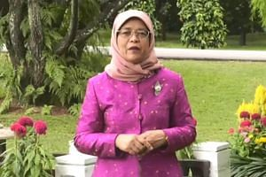 """In a Chinese New Year message posted on her Facebook page on Feb 4, President Halimah Yacob said the fact that the celebrations here also commonly embrace the other races is """"true to the Singapore spirit""""."""