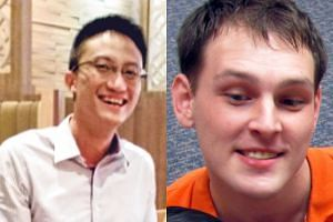 American Mikhy Farrera Brochez (right), who leaked the confidential data of 14,200 people with HIV online, was so angry with his partner Ler Teck Siang, the doctor who downloaded the information, that he complained about him to the Ministry of Health