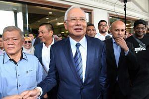 Malaysia's former prime minister Najib Razak leaving a courthouse in Kuala Lumpur, on Dec 12, 2018.