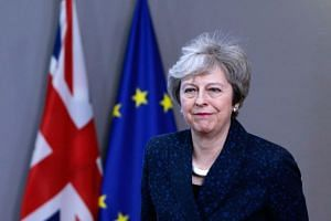 British Prime Minister Theresa May gave no sign during her visit to Brussels on Feb 8, 2019, of softening her rejection of a permanent EU-UK customs union, as Labour proposes, European Union sources said.