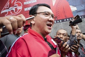 Former Jakarta governor Ahok announced his decision on Feb 8, following a meeting with leaders of the Indonesian Democratic Party of Struggle.