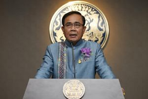 Thai Prime Minister Prayut Chan-o-cha speaks to the media during a press conference in Bangkok, Thailand, on Jan 8, 2019.