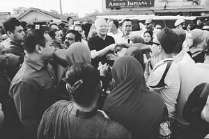 Former Malaysian Prime Minister Najib Razak's daughter Nooryana Najwa Najib posted a black and white picture on Instagram of Najib shaking hands with people on Feb 11, 2019.