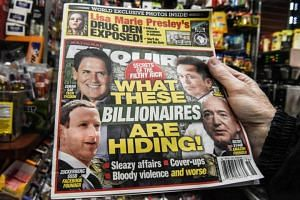 A copy of the National Enquirer at a convenience store in New York City on Feb 8, 2019.