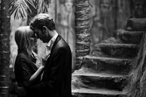 Still from the movie Cold War starring Joanna Kulig and Tomasz Kot.