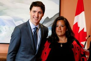 Wilson-Raybould poses for a photo with Canada's Prime Minister Justin Trudeau in January 2019.