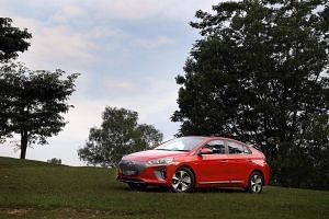 The Hyundai Ioniq Electric is one of the electric cars available in Singapore.