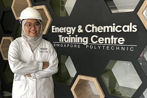 Ms Noorhana Ameera Norzaim enrolled in Singapore Polytechnic after her A levels.