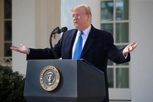 US President Donald Trump declared a national emergency over the US-Mexico border on Feb 15, 2019.