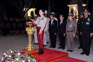 Princess Ubolratana Rajakanya officiating at the opening of a centre for the To Be Number One anti-drug and youth development project at Phichit Pittayakom school on Thursday.