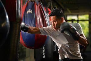 Top local professional boxer Muhamad Ridhwan was scheduled to fight in Manila, on March 23, 2019.