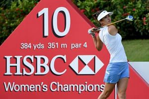 Michelle Wie prior to the HSBC women's championship at Sentosa Golf Club in 2016.