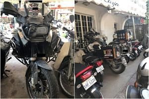 The motorcycle was found parked outside a boutique hotel in Phnom Penh.