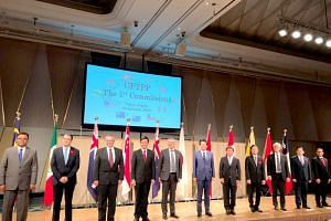 Ministers and senior officials from 11 countries who are involved in the Comprehensive and Progressive Agreement for Trans-Pacific Partnership in Tokyo for their first commission meeting on Jan 19, 2019.