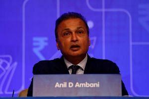 Mr Anil Ambani, chairman of the Reliance Anil Dhirubhai Ambani Group, addresses shareholders during the company's annual general meeting in Mumbai, India, on Sept 18, 2018.