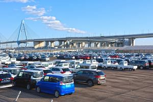 Vehicles sitting at Nagoya Port in Nagoya, Aichi prefecture, earlier this month. Imports of Japanese cars make up about two-thirds of Japan's US$69 billion annual trade surplus with the US, making Tokyo a target of criticism by US President Donald Tr