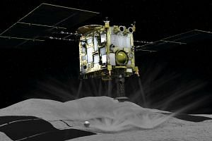Data from the probe, Hayabusa2, showed changes in speed and direction, indicating it had touched down on the asteroid and was blasting back to its orbiting position.