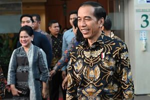Indonesia President Joko Widodo underscored progress made in infrastructure during his first term as he sought to build momentum ahead of April 17 elections.
