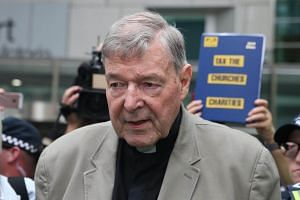 Cardinal George Pell leaves the County Court of Victoria court in Melbourne, on Feb 26, 2019.
