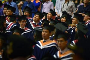 Fresh grads took home a median monthly salary of $3,500, up from $3,400 in 2017, according to results of a joint graduate employment survey released on Feb 26, 2019.