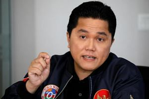 Mr Erick Thohir, the head of Indonesian President Joko Widodo's re-election campaign, speaking to foreign journalists at a media briefing in Jakarta on Feb 27, 2019.