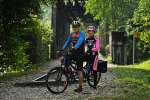 Terence Tan and his wife, Tan Sze Hian will be riding a tandem bike at this year's OCBC Cycle, held on May 11 and 12, 2019.