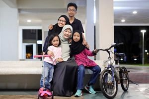 Suhaila Subtu with her four children (from top) Umar Abdul Aziz, 13, Sara Syaakirah, 15, Huda Nusaybah, 10, and Ayla Zulaykha, five.