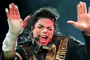 Michael Jackson performing during his Dangerous tour in Singapore in 1993.