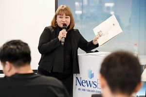 The Straits Times Schools teaching specialist Debra Ann Francisco showing 80 teachers from 58 primary and secondary schools how to incorporate the news in their teaching to spice up their class and engage students in discussions about current affairs