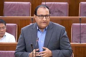 Communications and Information Minister S. Iswaran speaking during the debate on the budget of the Ministry of Communications and Information on March 4, 2019.