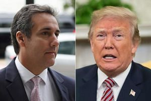 US President Donald Trump and his former lawyer and fixer Michael Cohen. Cohen testified before the House Oversight and Reform Committee about Mr Trump's misdeeds while the latter was attending a summit in Vietnam.
